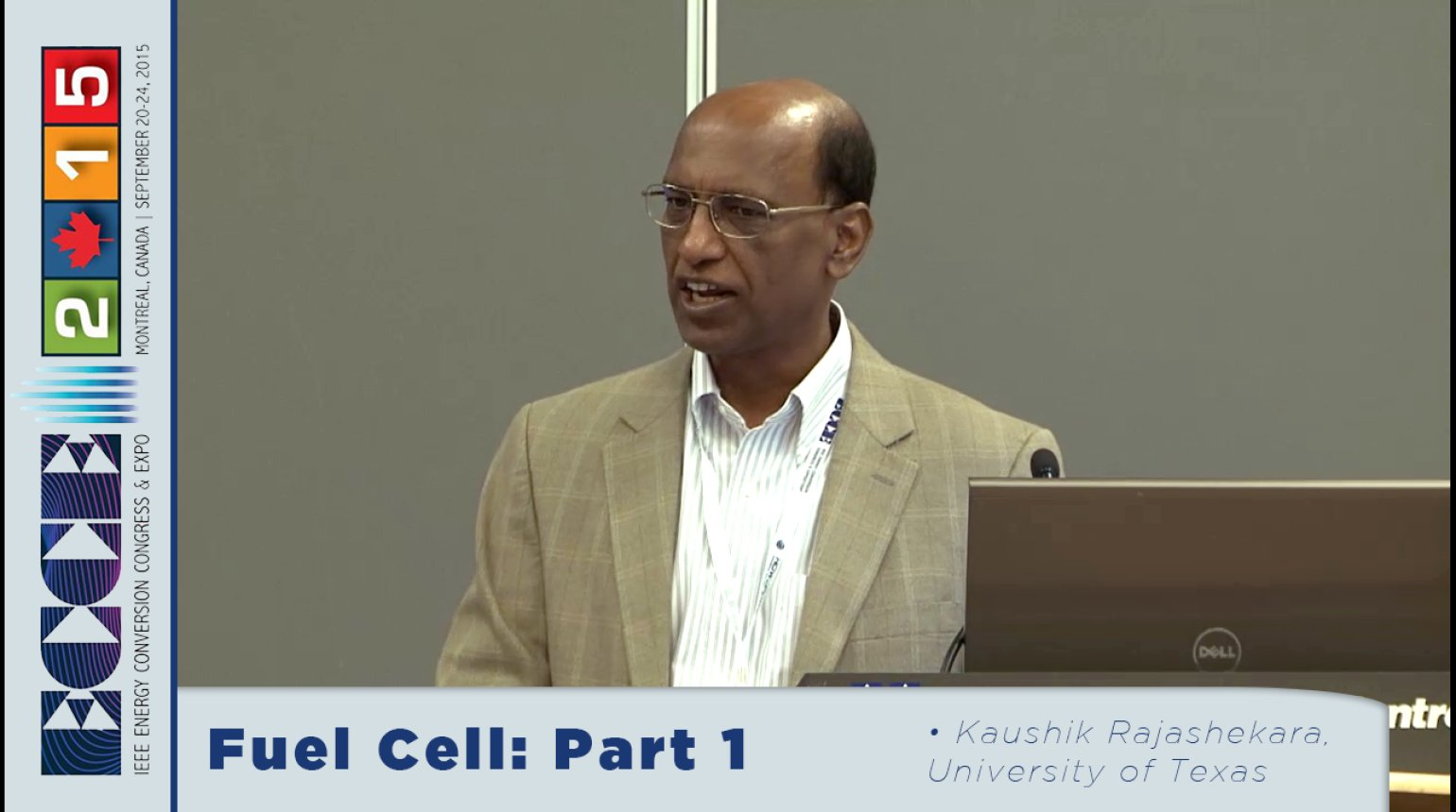 Fuel Cell Systems for Transportation and Stationary Power Generation: Tutorial with Kaushik Rajashekara