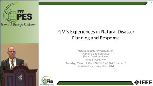 PJM's Experiences in Natural Disaster Planning and Response (Video)