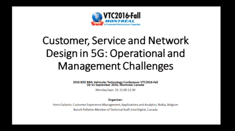 Video - Customer Service Network in 5G: Gacanin
