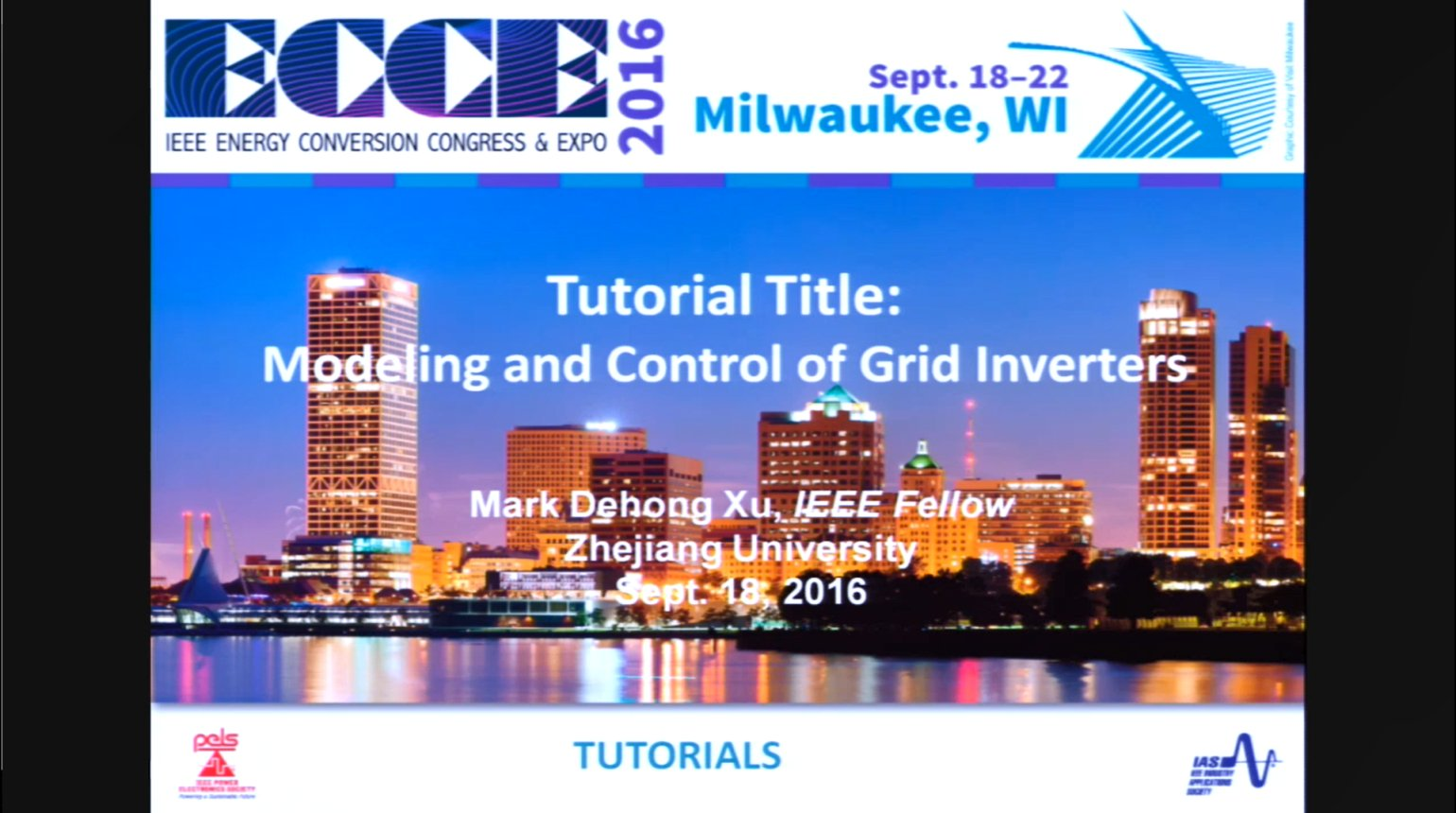 Modeling and Control of Grid Inverters