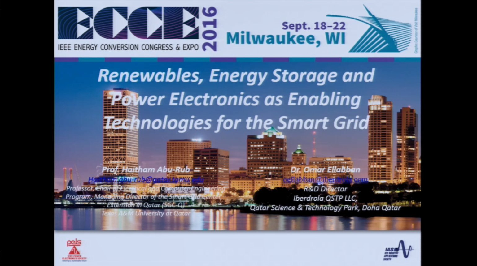 Renewables, Energy Storage and Power Electronics as Enabling Technologies for the Smart Grid