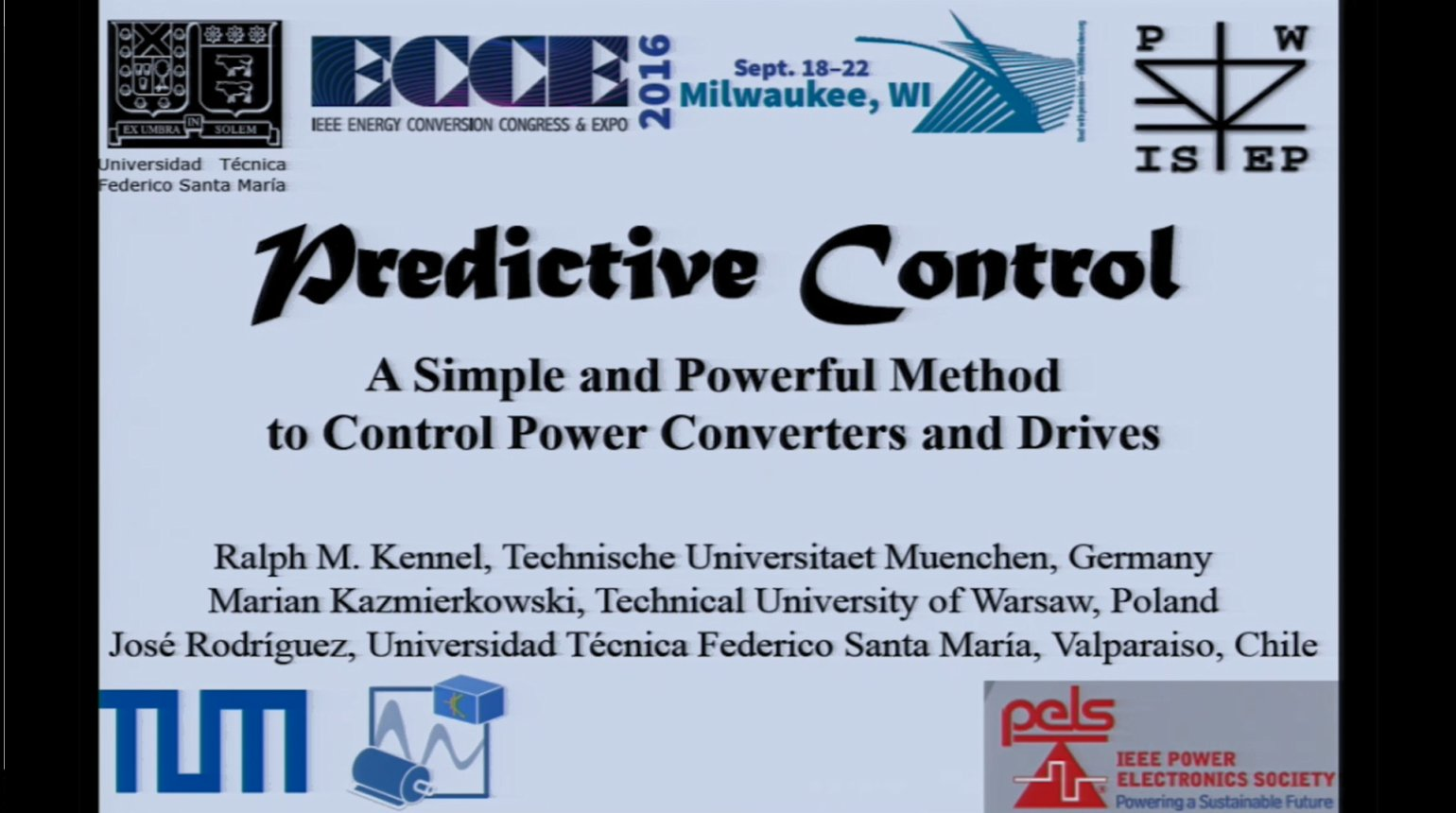 Predictive Control - A simple and Powerful Method of Control Power Converters and Drives