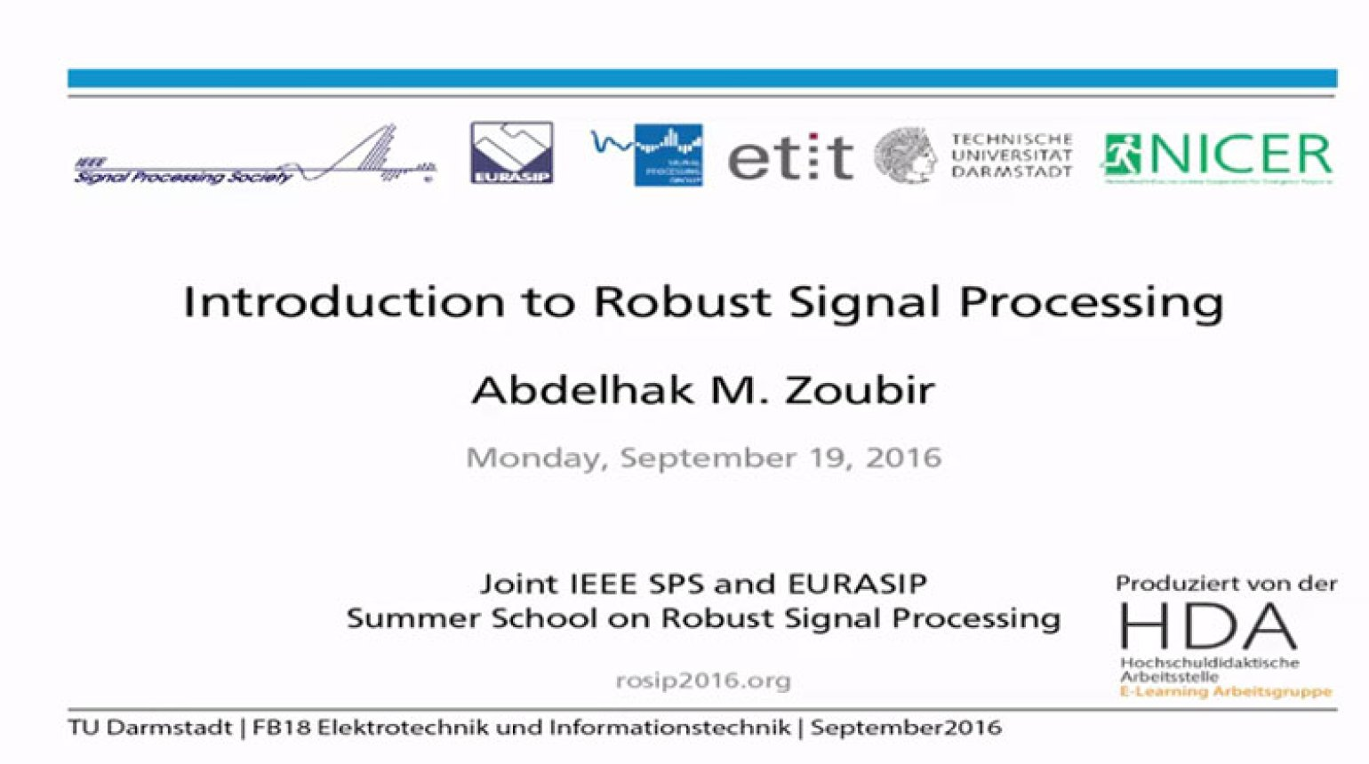 Introduction to Robust Signal Processing