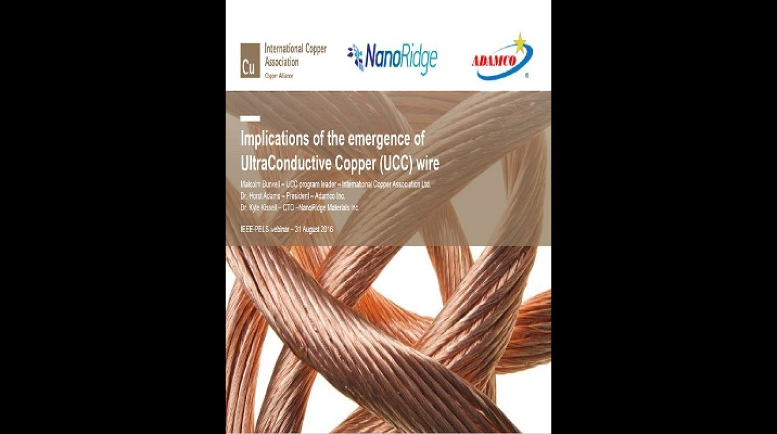 Implications of the emergence of UltraConductive Copper (UCC) wire Video