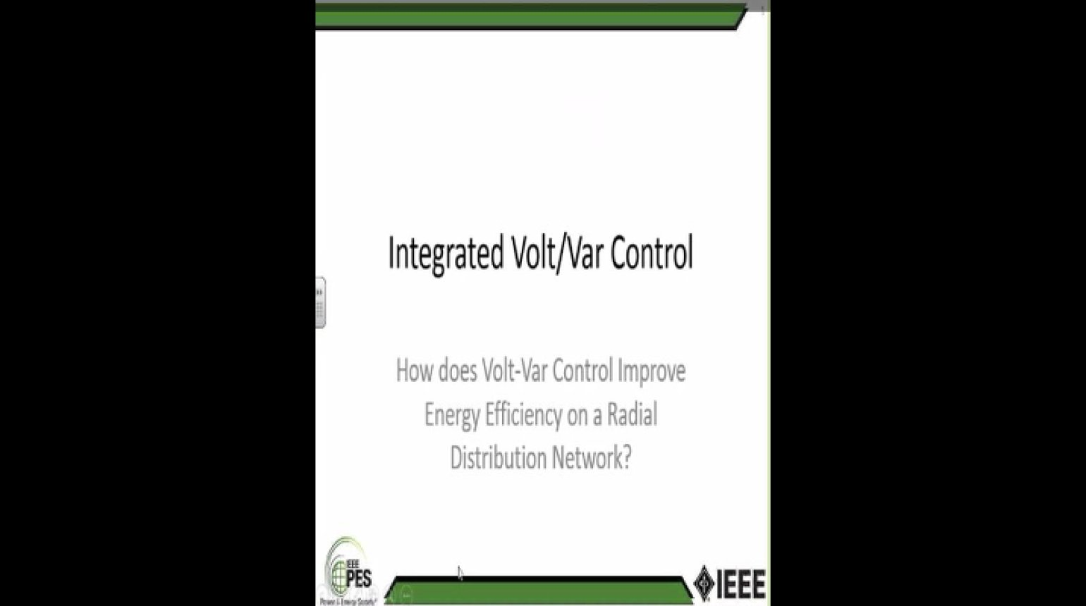 How Does Volt-var Control Improve Energy Efficiency on a Radical Distribution Network?