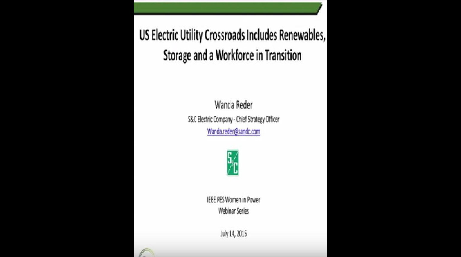 Electric Utility Crossroads Includes Renewables, Storage, and a Workforce in Transition
