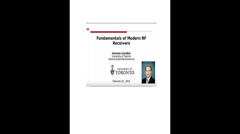 Fundamentals of Modern RF Receivers Video