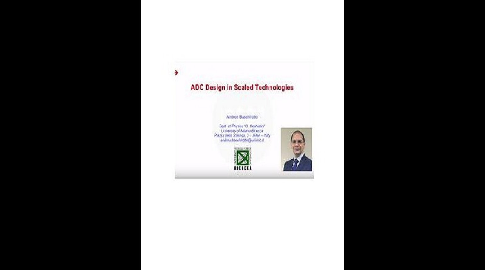 ADC Design in Scaled Technologies Video