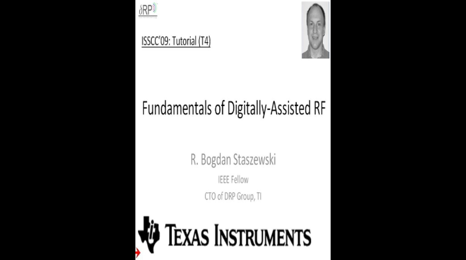 Fundamentals of Digitally Assisted RF Video