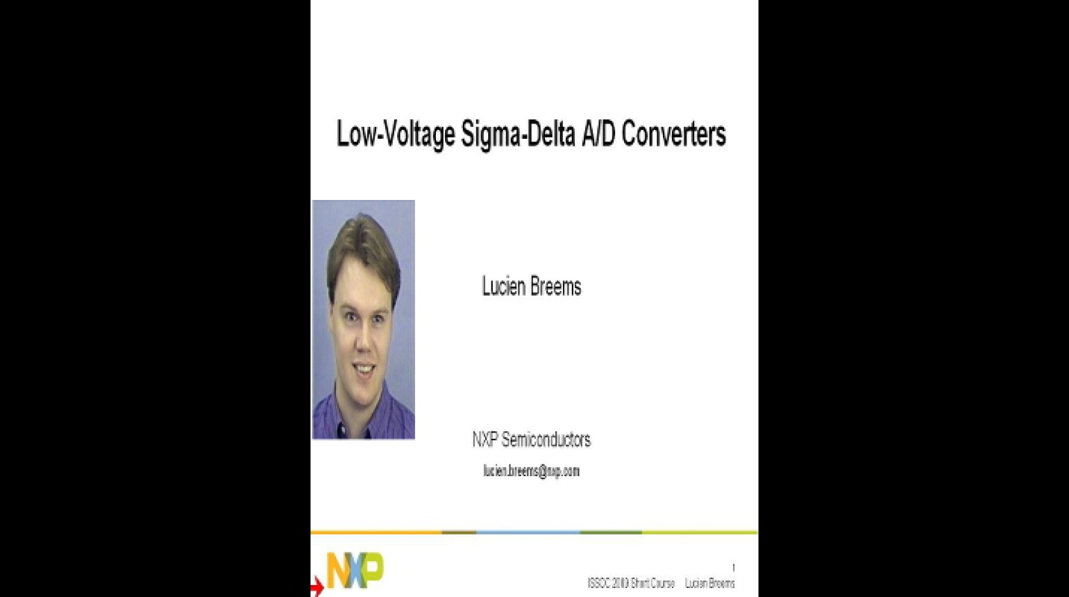 Low Voltage Sigma Delta A D Converters Video