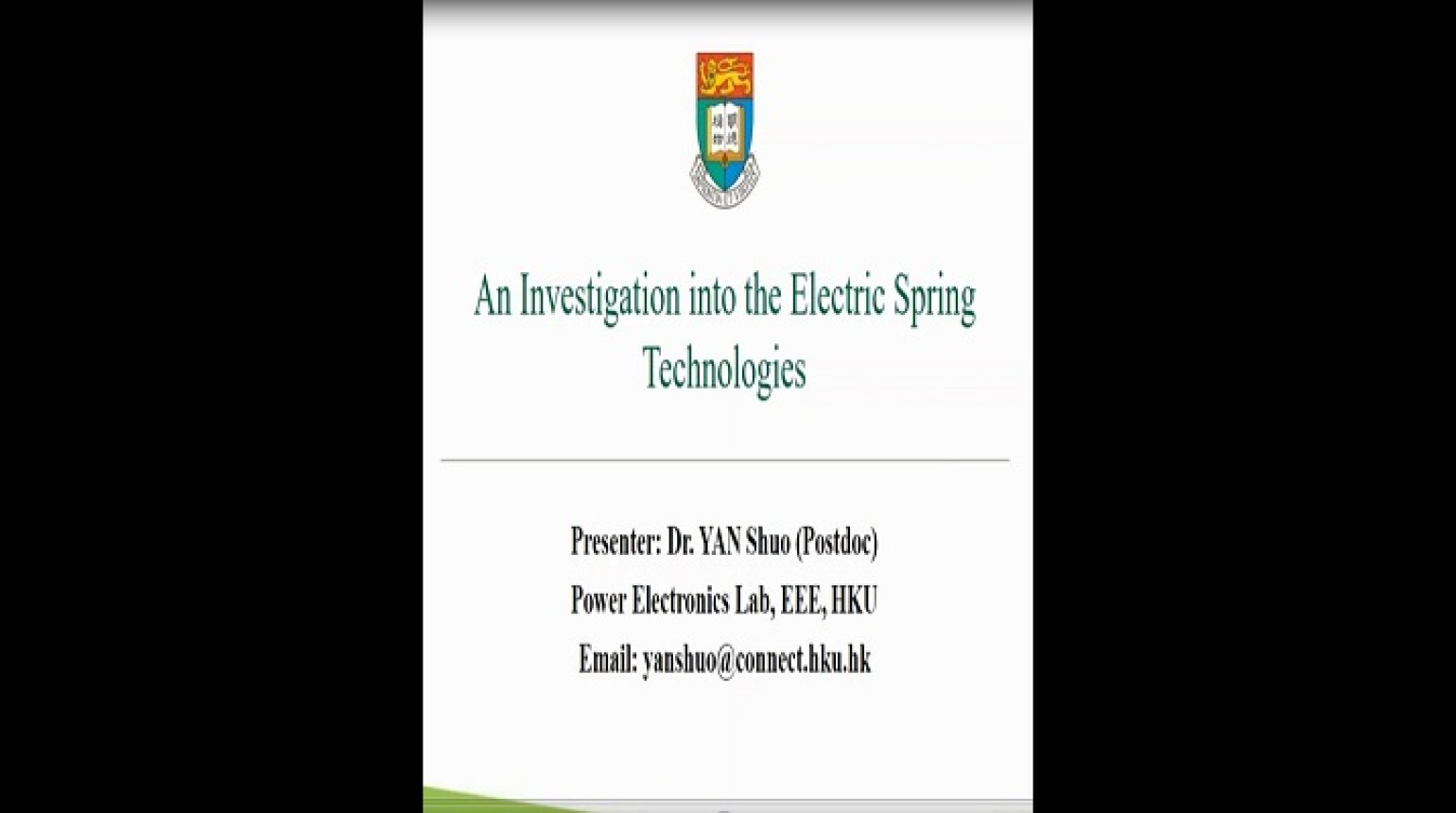 YP webinar: An Investigation into Electric Spring Technologies Video