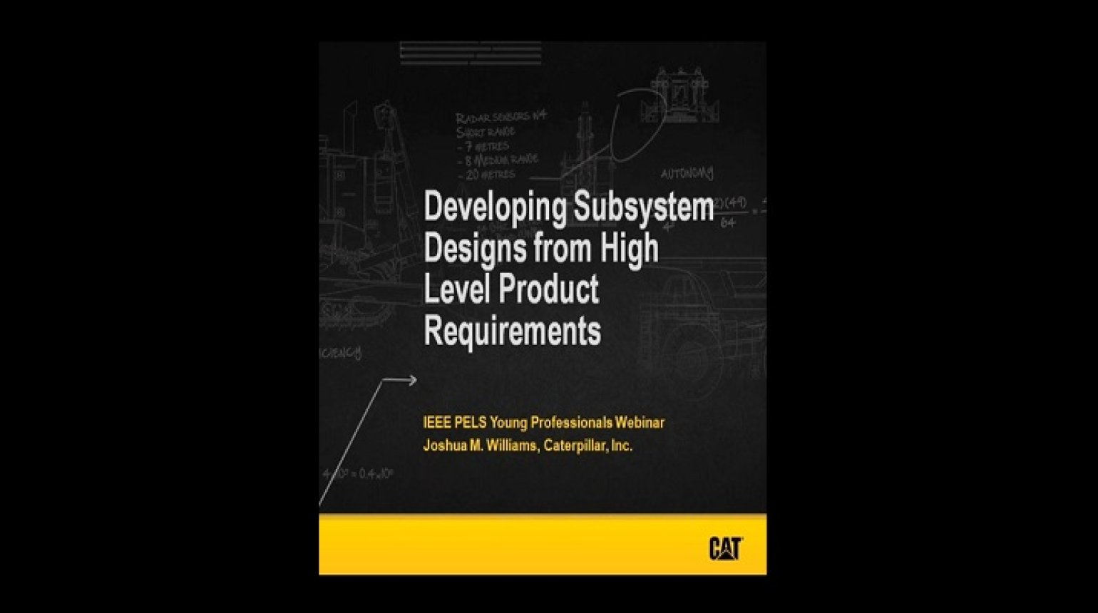 YP webinar: Developing Subsystem Designs from High Level Product Requirements Video