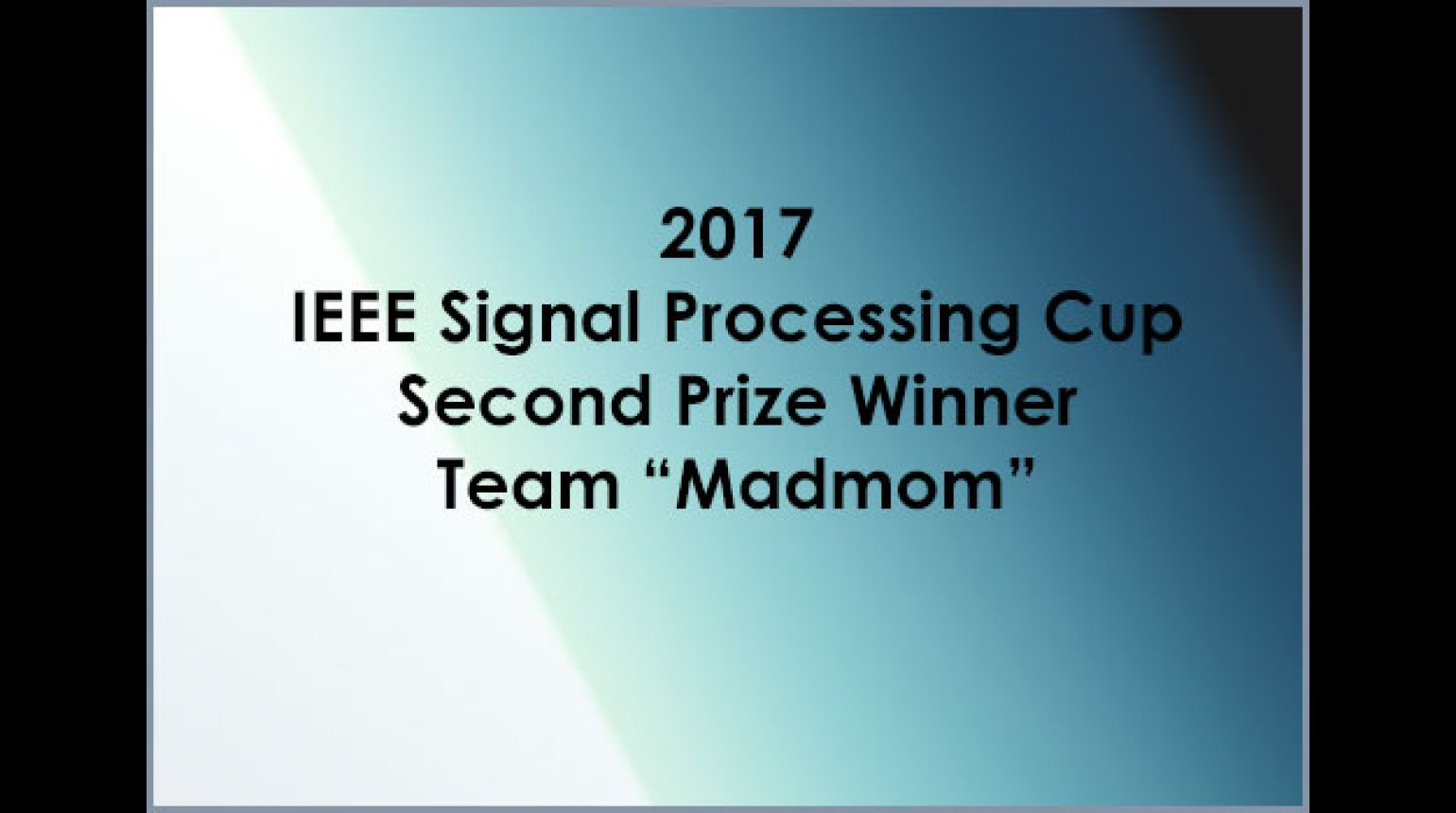 IEEE SP Cup 2017: Second Prize - Team Madmom