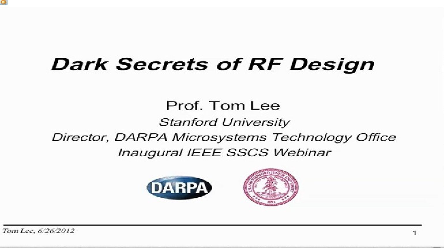 Dark Secrets of RF Design Video