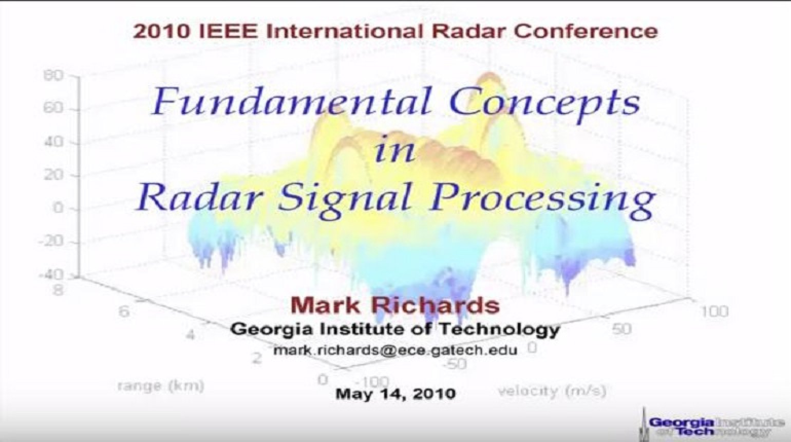 Fundamental Concepts in Radar Signal Processing - Introduction