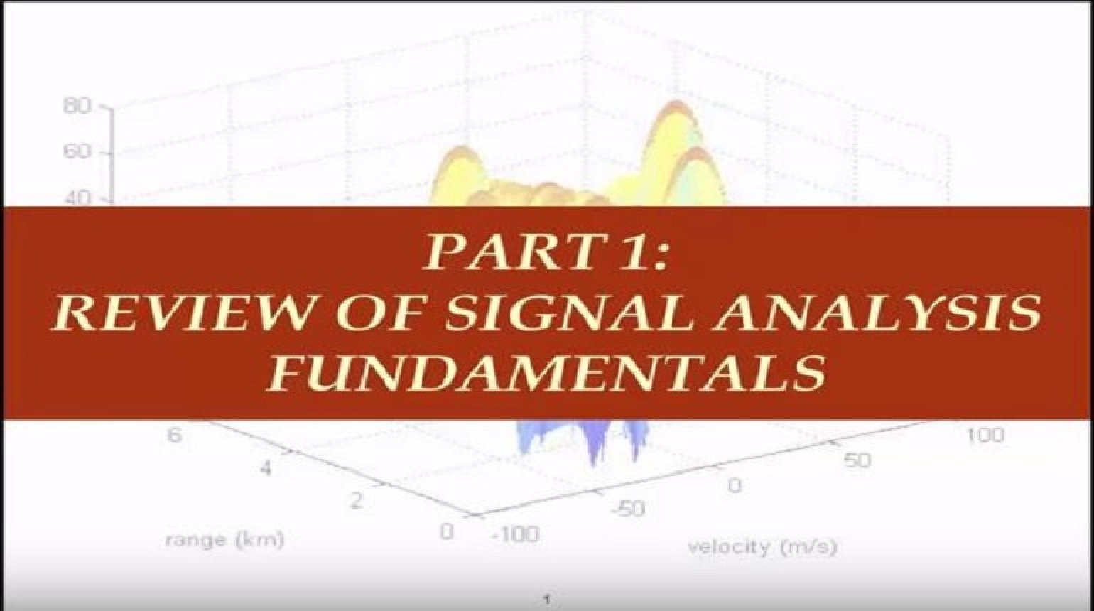 Fundamental Concepts in Signal Processing Part 1