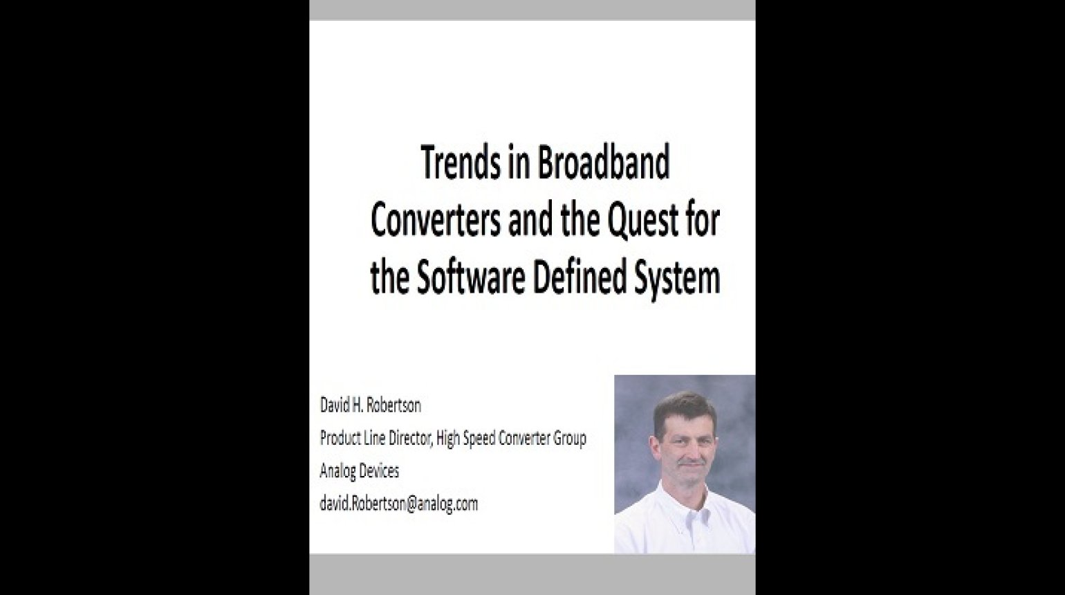 Trends in Broadband Converters Video