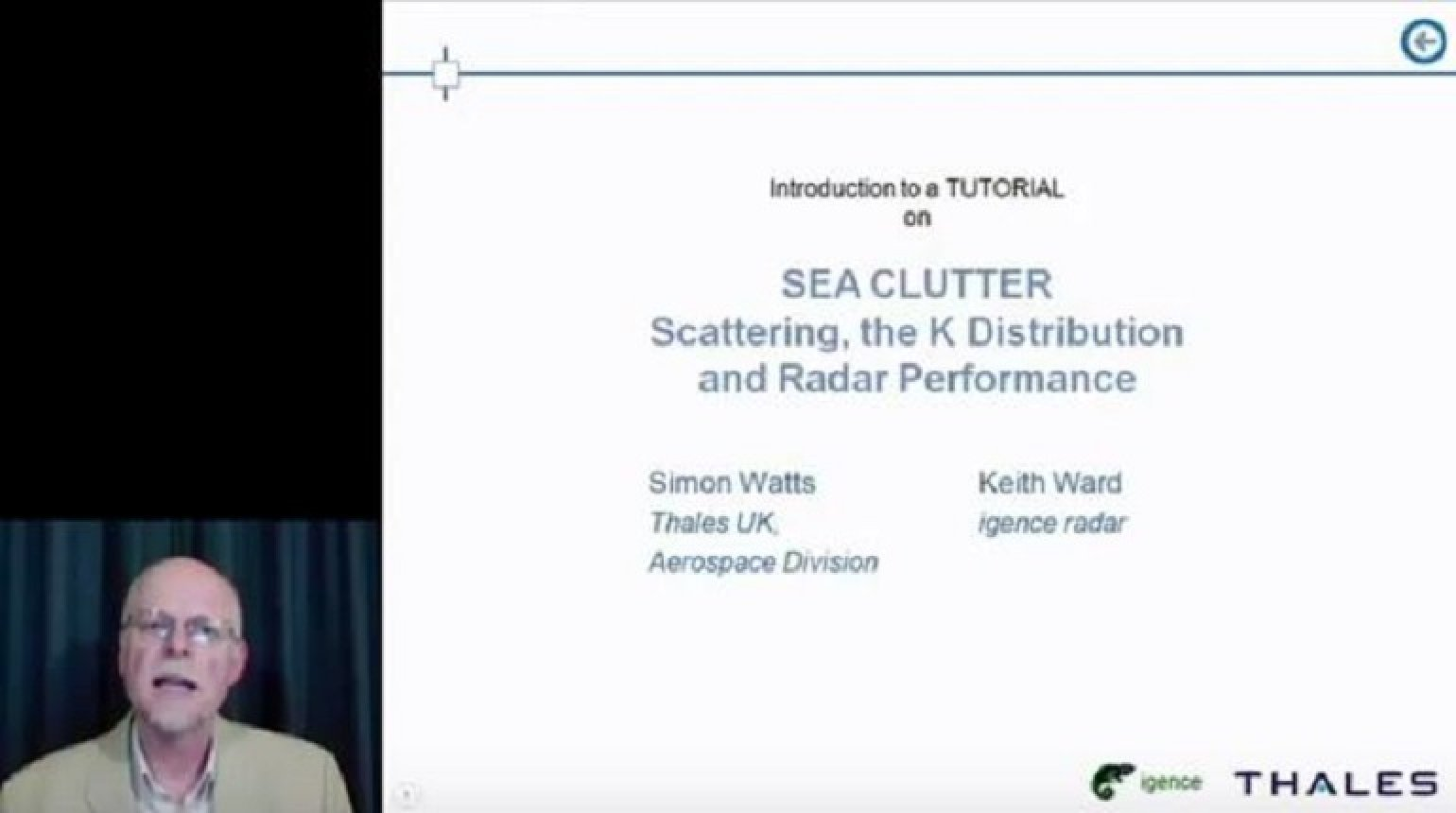 Sea Clutter Scattering, the K Distribution and Radar Performance Introduction