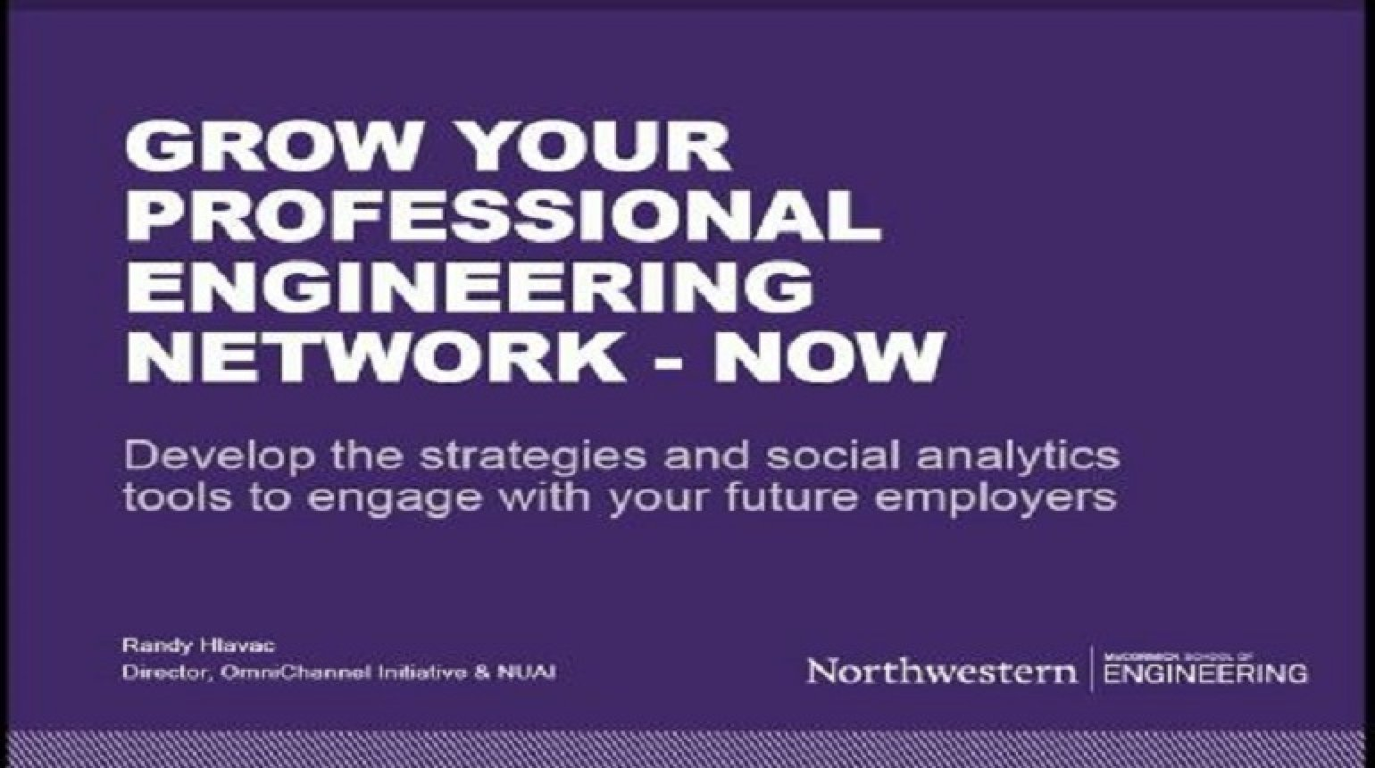 Grow Your Professional Engineering Network Video