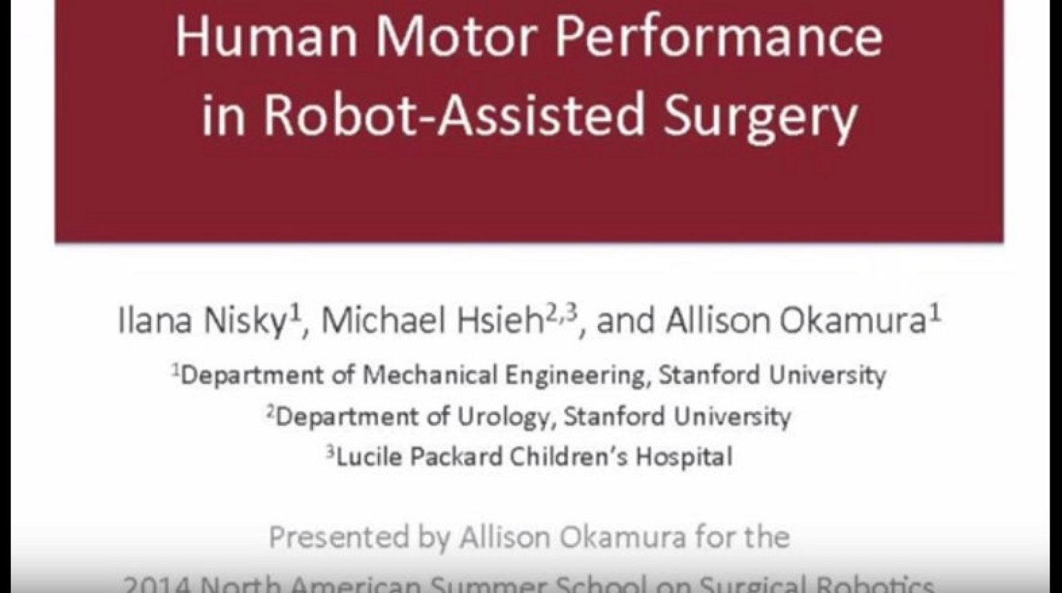 Human-motor performance in robot assisted surgery
