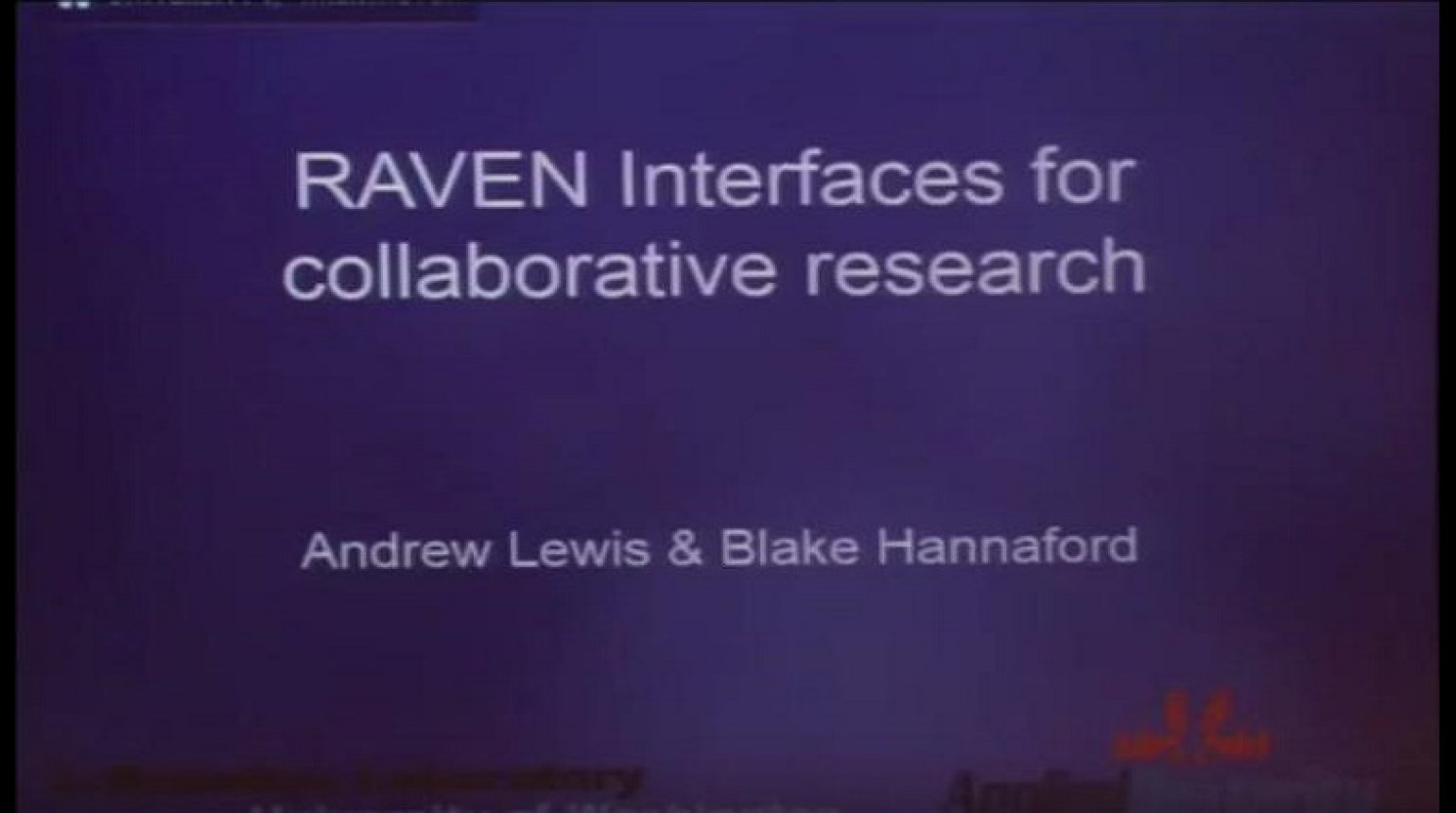 RAVEN Interfaces for collaborative research