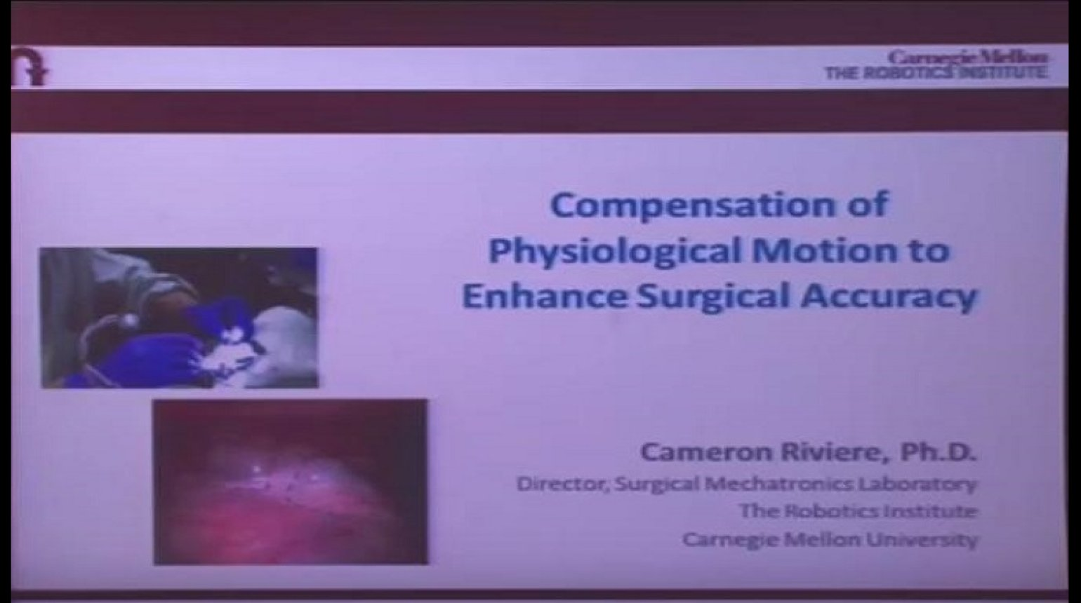 Compensation of phsyiological motion for enhanced surgical accuracy