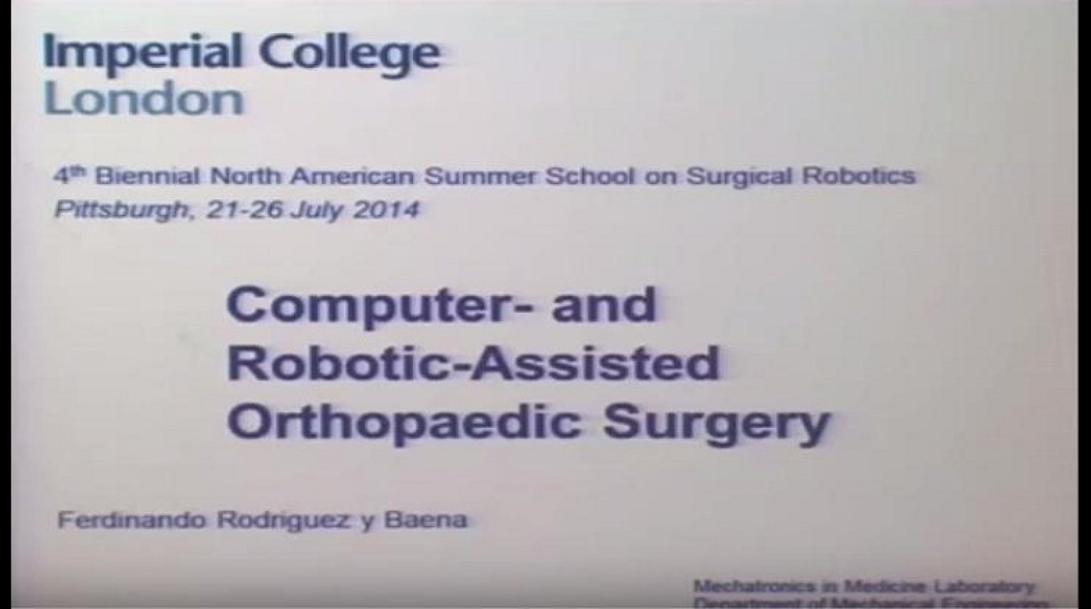 Computer and robot assisted orthopaedic surgery
