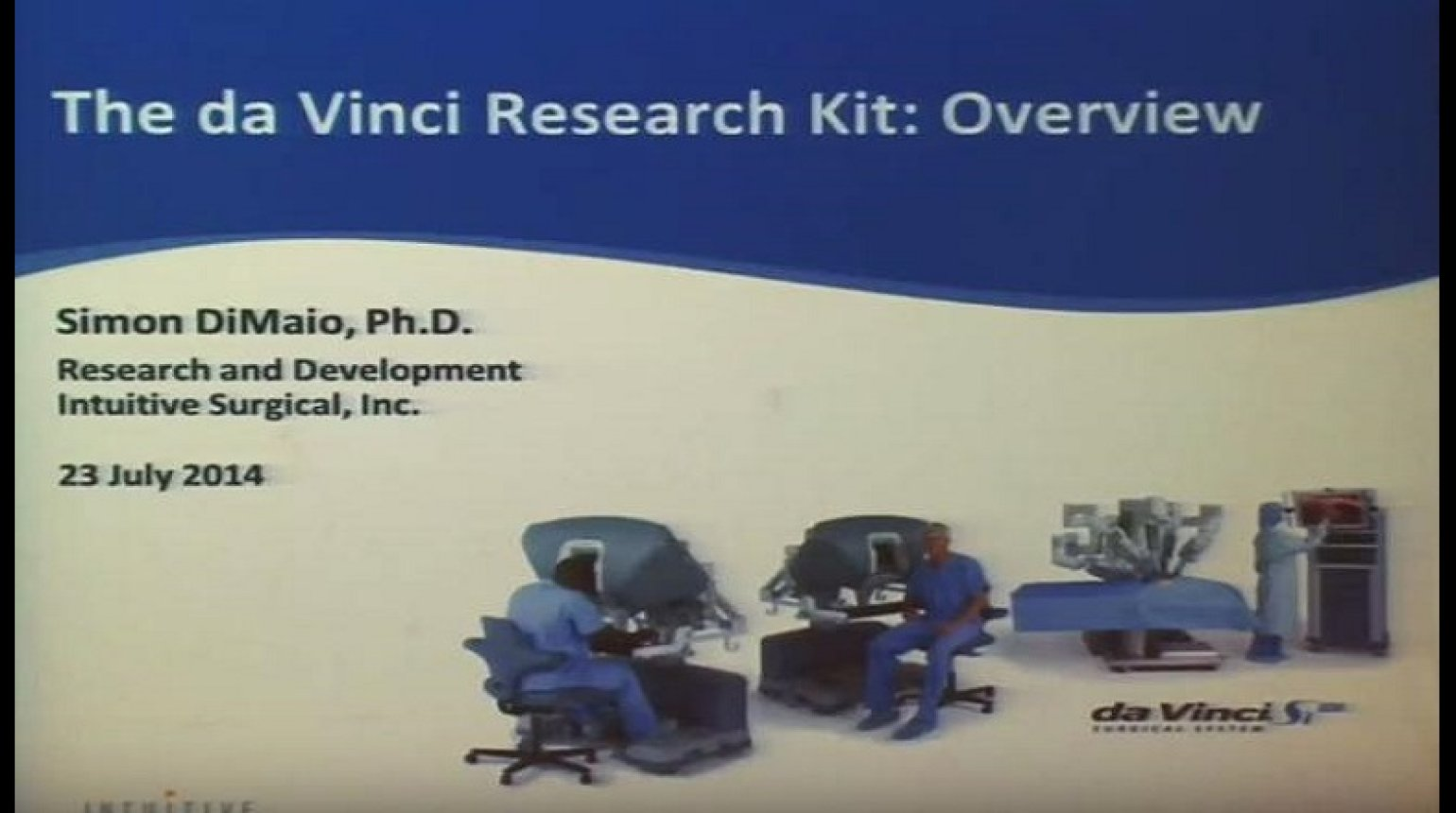 Shared research platforms and frameworks- daVinci Research Kit