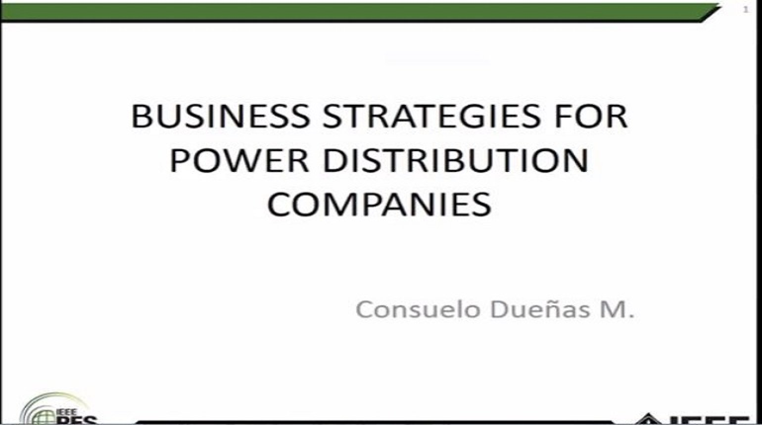 Business Strategies for Power Distribution Companies (Spanish version)