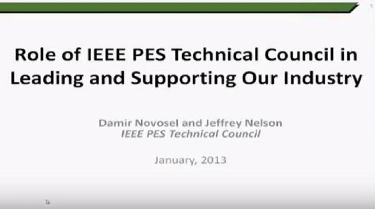 The Role of PES Technical Committees in Leading and Supporting our Industry What Is It and Why Is It Important To You?
