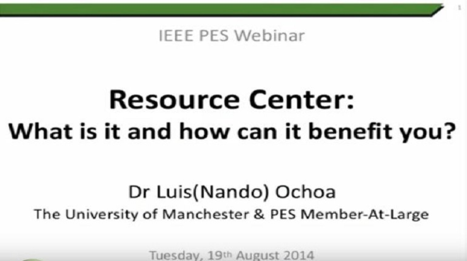 IEEE PES Resource Center