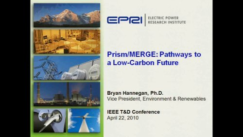 Prism/MERGE: Pathways to a Low-Carbon Future (Video)