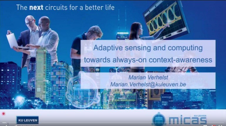 Adaptive sensing and computing towards always-on context-awareness Video
