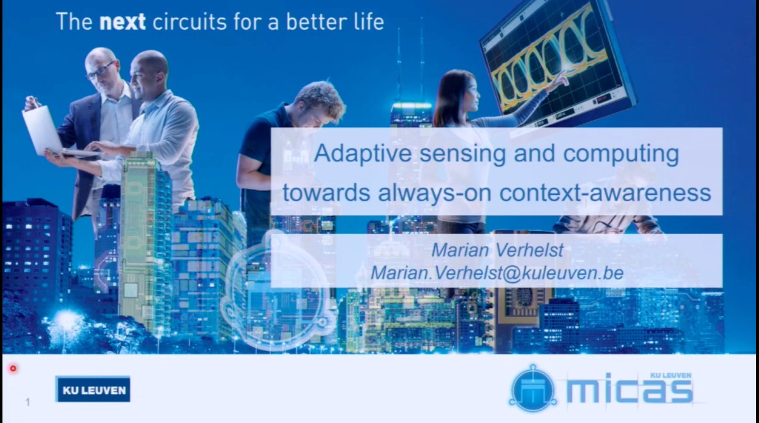 Adaptive sensing and computing towards always-on context-awareness Video