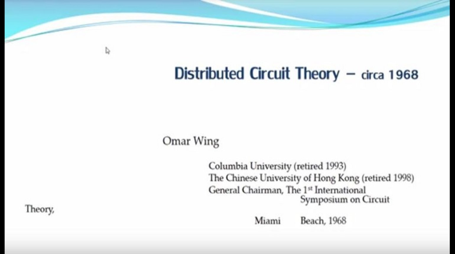 Distributed Circuit Theory - Circa 1968