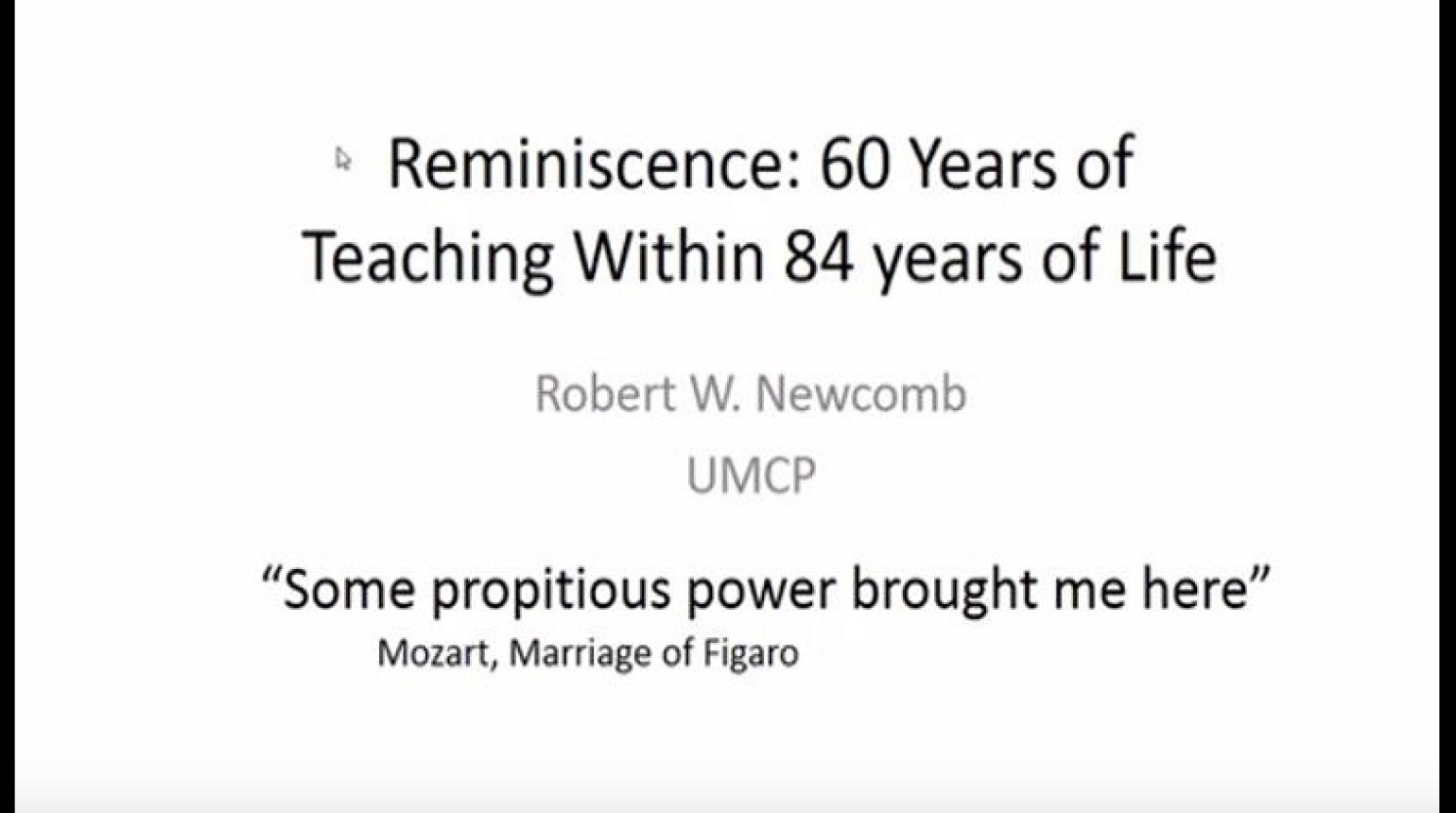 Reminiscence: 60 Years of Teaching Within 84 Years of Life