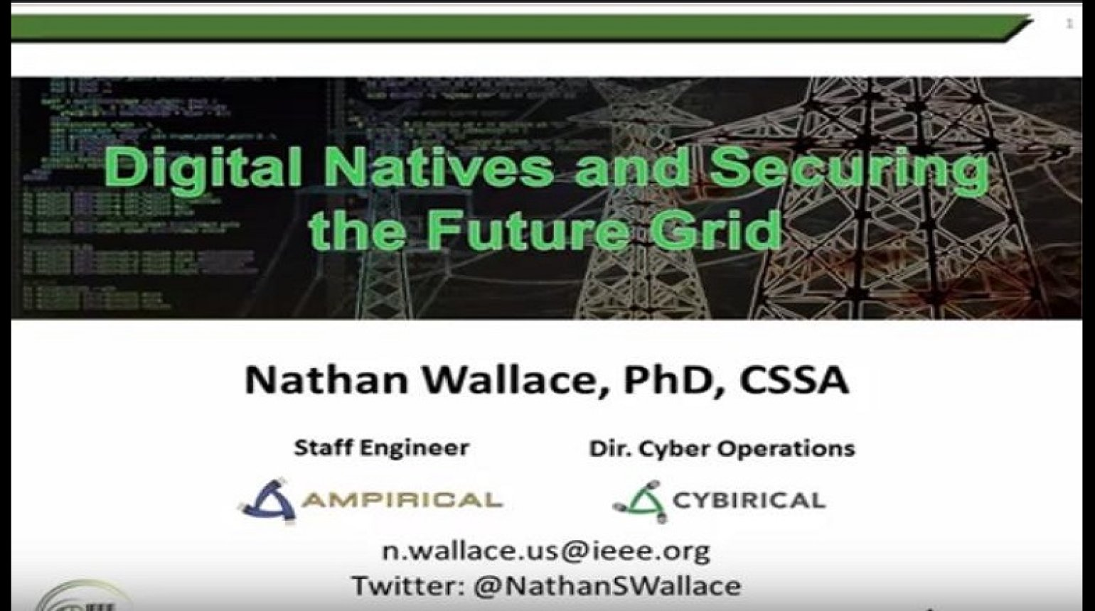 Digital Natives and Securing the Future Grid