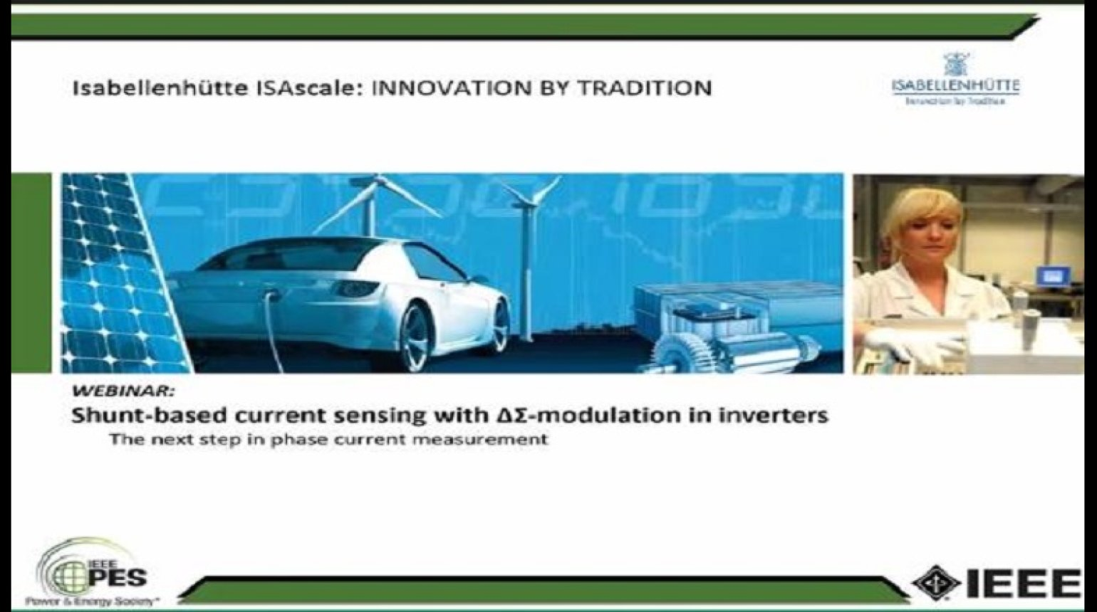 Shunt-Based Current Sensing with ∆Σ-Modulation in Inverters