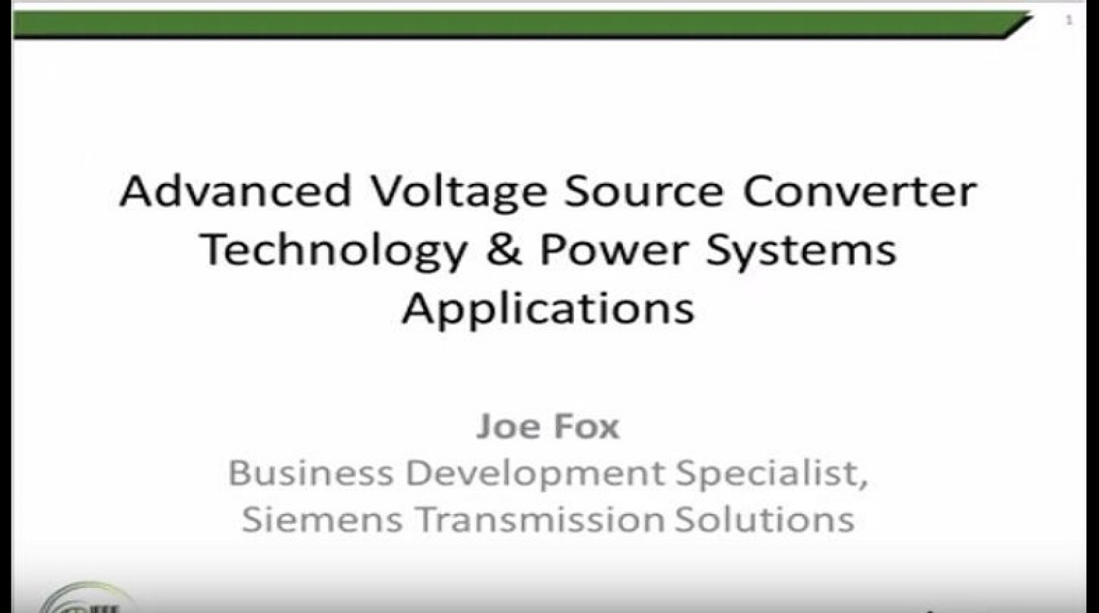 Advanced Voltage Source Converter Technology and Power Systems Applications