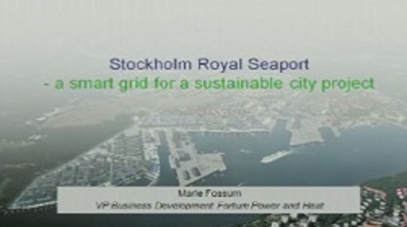 IEEE Smart Grid World Forum - Marie Fossum