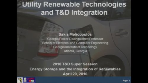 Super Session: Energy Storage and the Integration of Renewables (Video)
