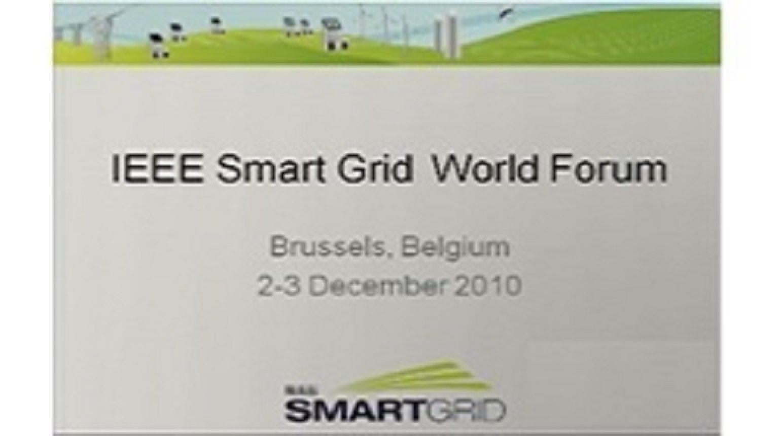 IEEE Smart Grid World Forum - Laurent Schmitt