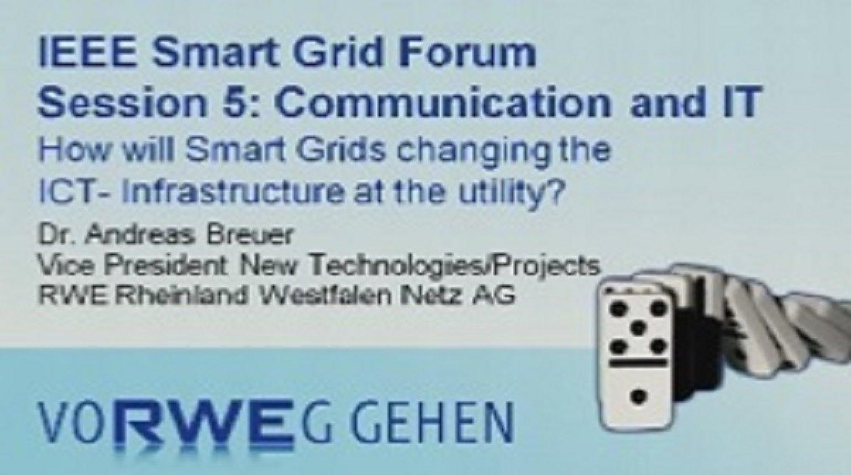 IEEE Smart Grid World Forum - Andreas Breuer
