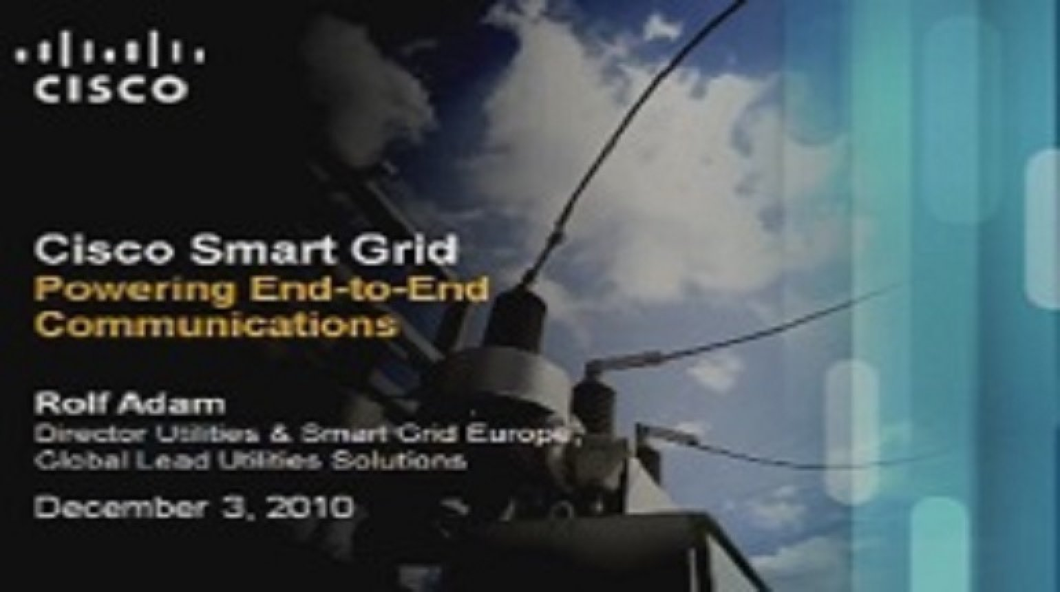 IEEE Smart Grid World Forum - Rolf Adam