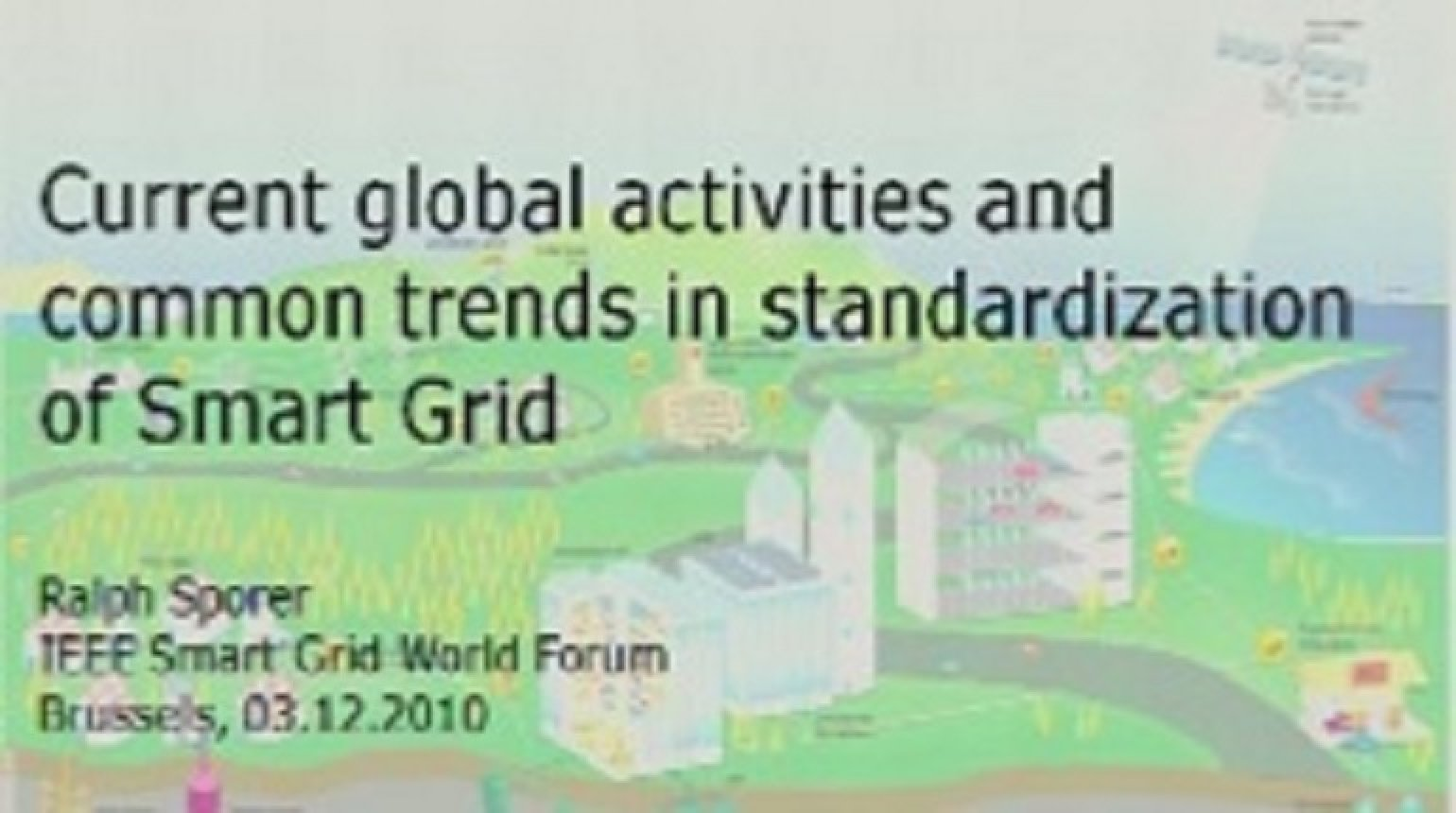 IEEE Smart Grid World Forum - Chris Develder