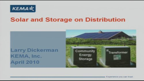 Solar and Storage On Distribution (Video)