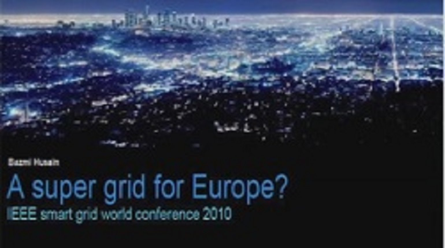 IEEE Smart Grid World Forum - Eric Ghequire