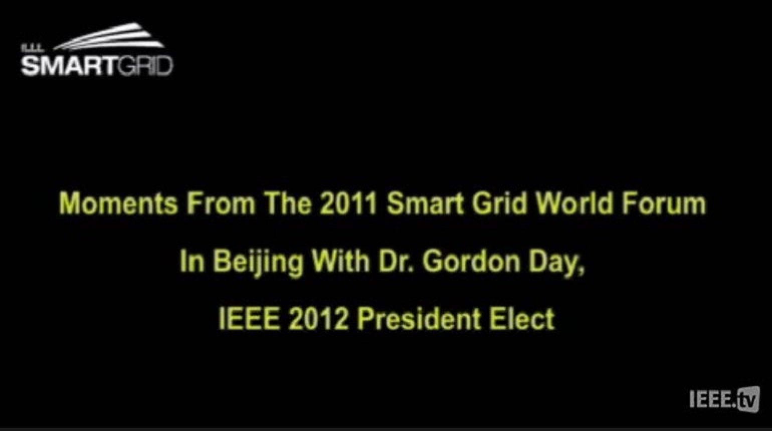 Global Distribution Systems for the Smart Grid: Gordon Day