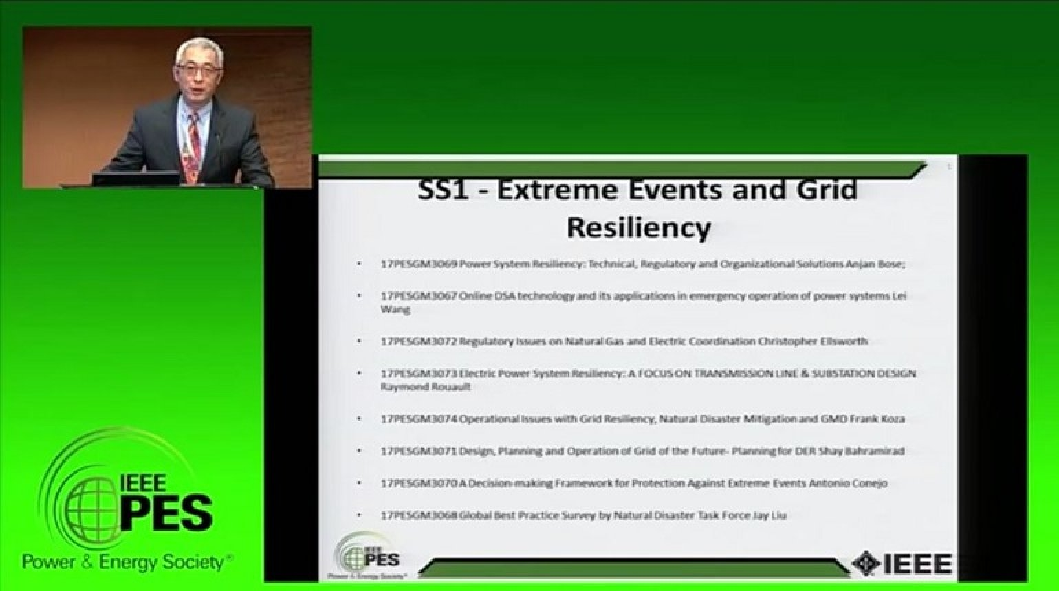 PES GM 2017 - Extreme Events and Grid Resiliency Super Session