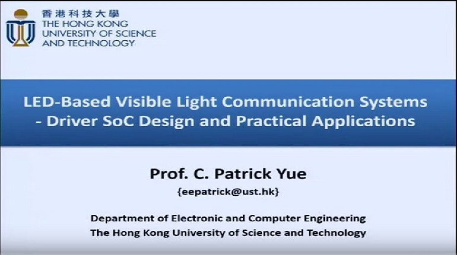 LED-Based Visible Light Communication Systems Driver SoC Design and Practical Applications Video